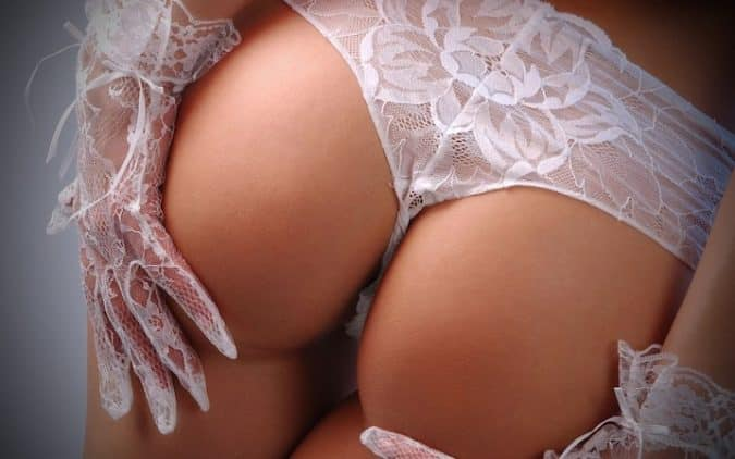Rimming with white Lingerie